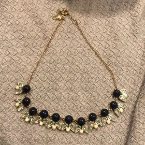 J crew navy  necklace
